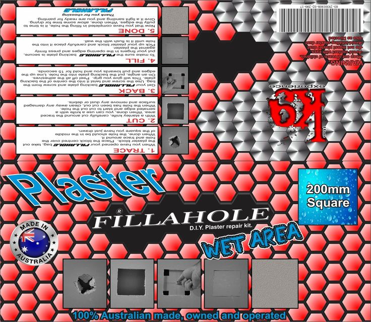 24 days left until Fillahole® your D. I. Y Plaster Repair Kit launches!! WHY FILLAHOLE? BECAUSE FILLAHOLE FILLS IT!