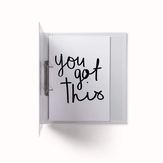You Got This Quote / Planner Insert | Printable, Instant Download | A4, A5, US Letter | Hand Drawn Lettering, Art, Poster, Print, Minimal  Printable products to promote organisation, happiness and growth. | THE PACKAGE:  - You Got This Print (A4) - You Got This Print (A5) - You Got This Print (US Letter) | More of a similar style, create a series of print series -
