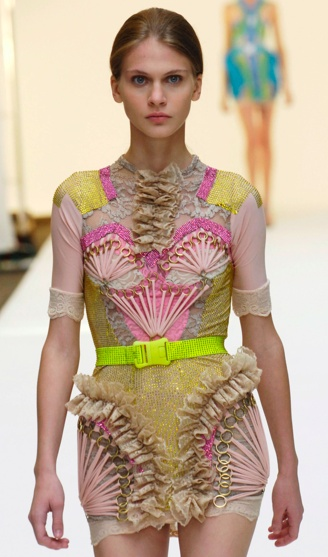 pastels with neon-christopher kane