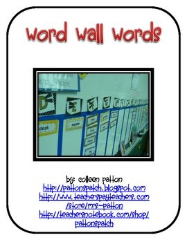 FREE from Mrs. Patton on TpT. If you would like to create a hands-on word wall, this download is for you! It includes K and 1 high frequency words, social studies words, math wo...