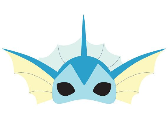No costume? No problem! Heres a printable Vaporeon (Pokemon) mask which you can…