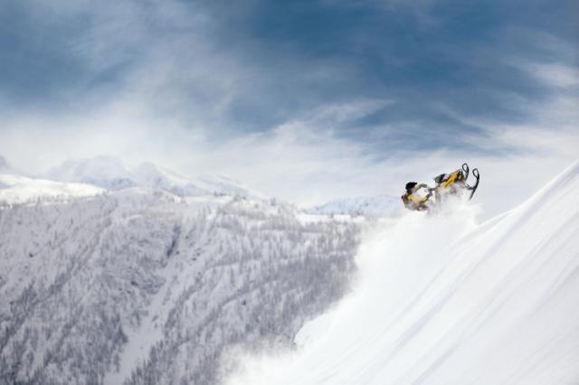 2013 Ski-Doo Summit X in action