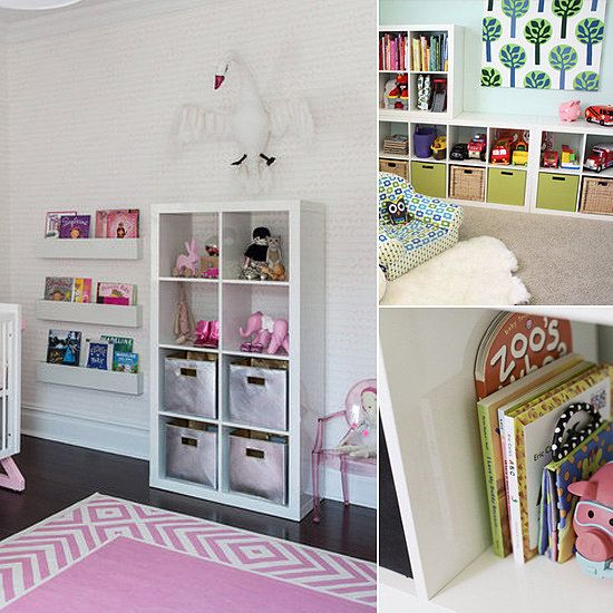 way to put ikea expedit bookshelves to work in your kids 39 rooms kids room ideas pinterest. Black Bedroom Furniture Sets. Home Design Ideas