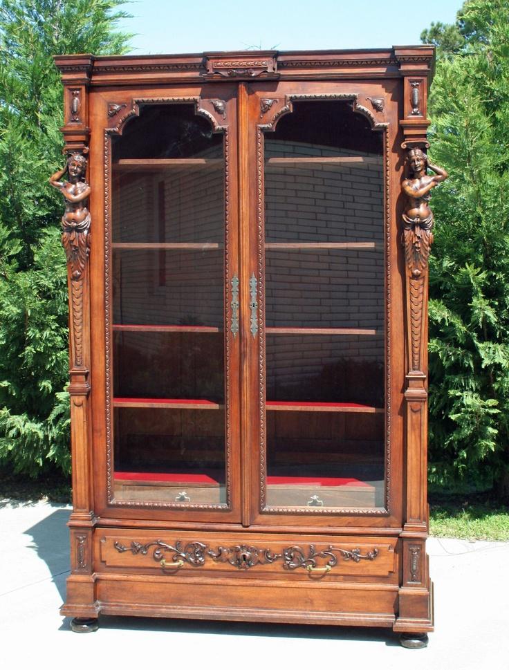 1875 Victorian Figural Bookcase | eBay