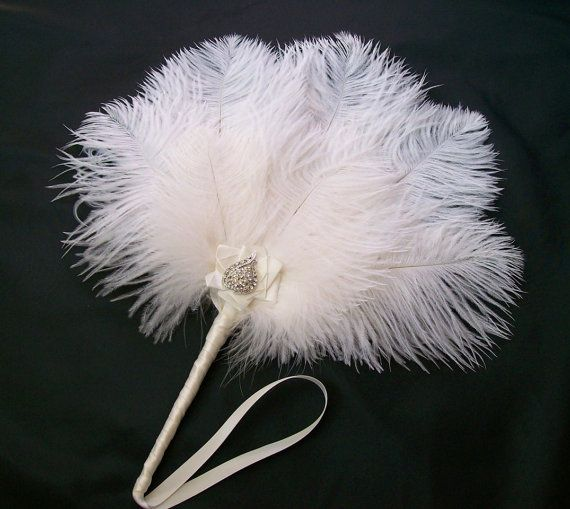 Pale+Ivory+Vintage+Style+Ostrich+Feather+&+by+IndigoDaisyWeddings,+£26.50