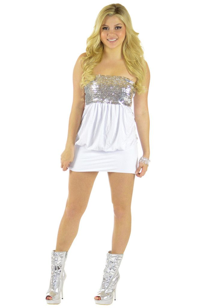 Silver Linings White Dress | Sexyback Boutique