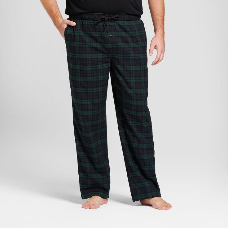 Men's Big & Tall Woven Flannel Pajama Pants - Goodfellow & Co Green Plaid Xxlt, Size: Xxl Tall