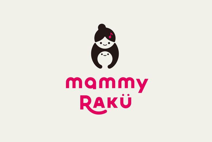 MARU WORK & ARCHIVE - mammy RAKU(2014) 育児応援ブランドのロゴ