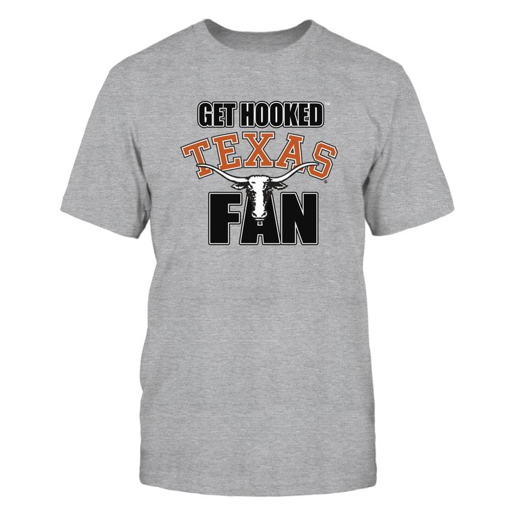 University of Texas Shirts - Get Hooked Texas Fans T-Shirt, The  University of Texas Longhorns  Fan Gear** Find your Texas Longhorns football schedule and get your Longhorns football shirt for the big game. When it's college football Saturday, wear your favorite college football team shirt to show your Longhorn pride no matter where you live. Texas... The Texas Longhorns Collection, OFFICIAL MERCHANDISE  Available Products:          Gildan Unisex T-Shirt - $24.95 Gildan Women's T-Shirt…