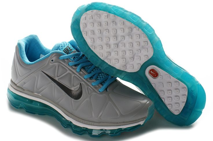 BDt6v Nike Air Max 2011 Leather Womens Shoes Gray Black Blue