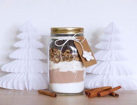 Kit à ofrir Brownies aux noix de pécan dans un bocal Kit to Offer Pecan Brownies in a Jar