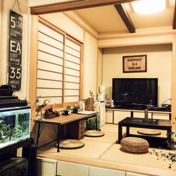 和モダンインテリアをご紹介☆和室のおしゃれ暮らしが新しい! | folk 男前