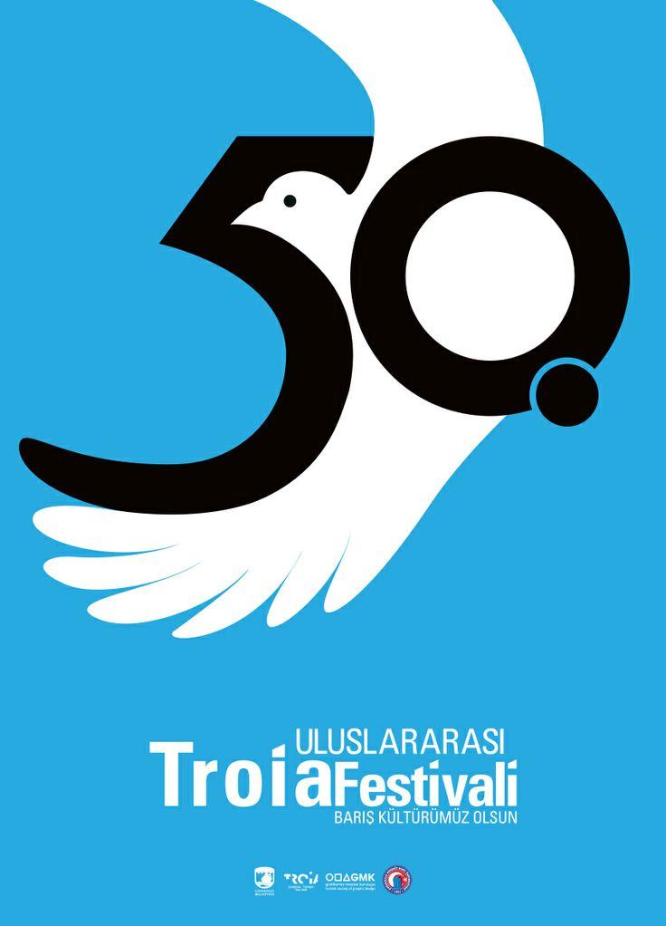 50th International Troia Festival Poster Design - 50. Uluslararası Troia Festivali Afiş Tasarımı