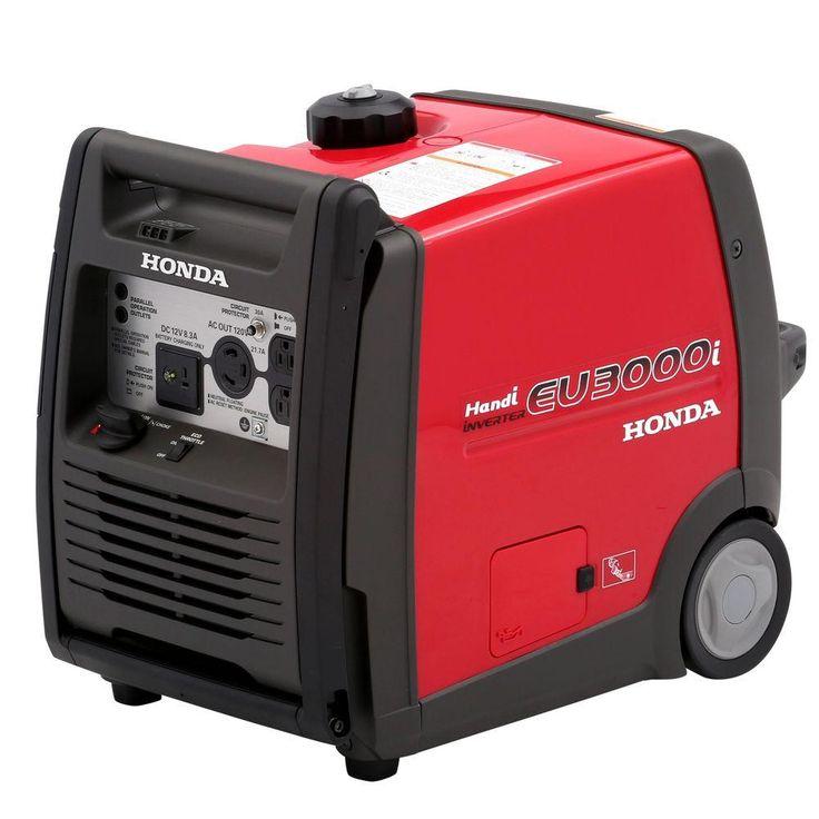 3000-Watt Super Quiet Gasoline Powered Wheeled Portable Inverter Generator with Eco-Throttle and Folding Handle Bar