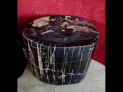 IndoGemstone Petrified Wood Coffee Table - YouTube