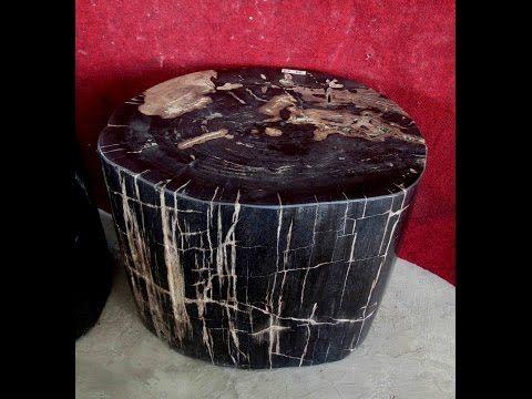 IndoGemstone Petrified Wood Coffee Table - YouTube