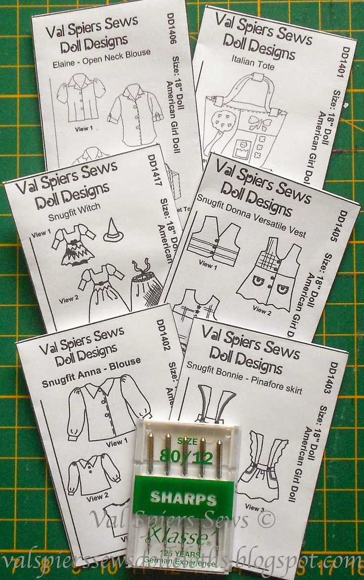 Make these for your American Girl Doll today. Free doll sized pattern envelopes ready to cut out, fold and tape. Add them to your doll house sewing corner. They match the patterns from Val Spiers Sews on Craftsy. Val Spiers Sews Doll Designs: Free Doll Size Pattern Envelopes for American Girl Dolls
