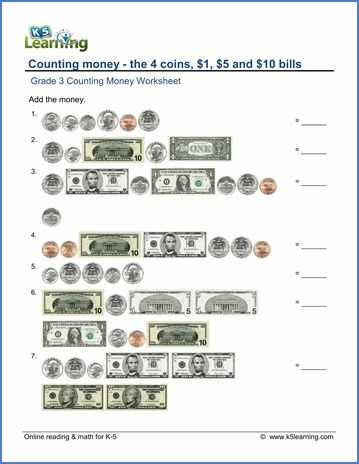 Counting Money Worksheets 4th Grade in 2020 (With images ...