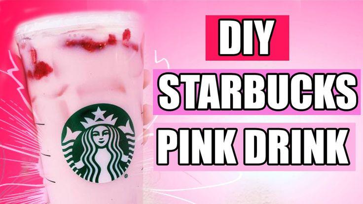 DiY STARBUCKS PiNK DRiNK (STRAWBERRY ACAI REFRESHER) !!! - XOBRUNETTEBARBIE❤ - YouTube