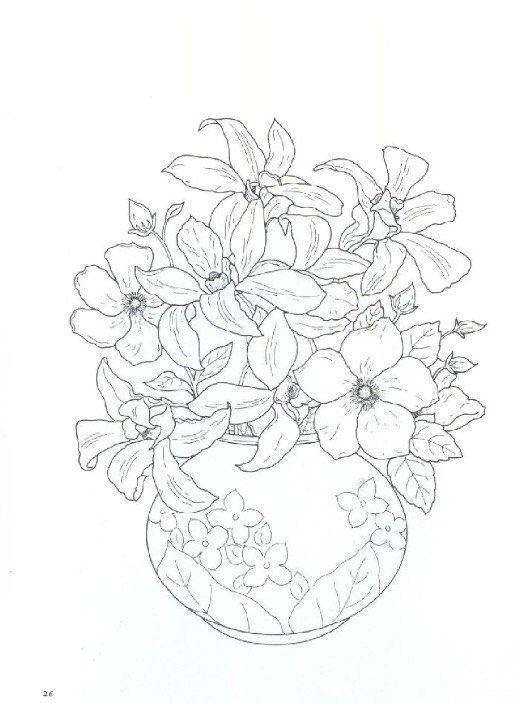 Летний букет цветов картинки для срисовки, сентября