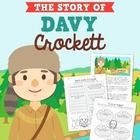 This lesson packet includes a short story explaining the life and accomplishments of Davy Crockett as well as several comprehension worksheets.   Here is what you will get in this packet:   ‣ Reading passage in color (2 pages) ‣ Reading passage in black and white (2 pages) ‣ True or false worksheet ‣ Sequencing worksheet  ‣ Meet Davy Crockett fill in the blank worksheet ‣ 'T' State Research Texas and Tennessee worksheet ‣ Pop-up book instructions ‣ Pop-up book cut-outs (2 pages) ‣ ...