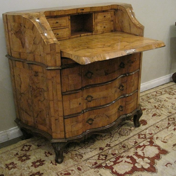 Italian Walnut Secretaire