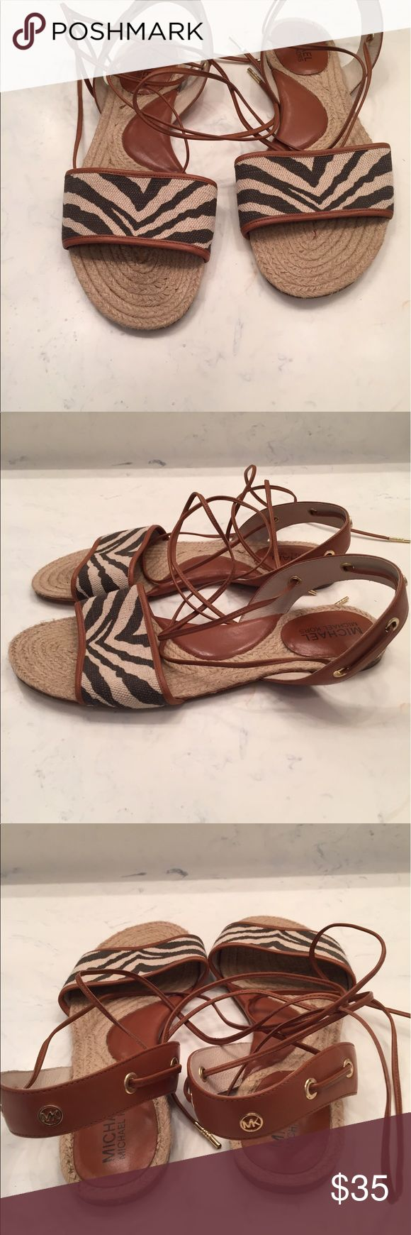 MICHAEL KORS Lace Up Sandals Great condition .  Cute lace up sandal.  Ready for the warm weather.  Cute with shorts, skirts and leggings. Michael Kors Shoes Sandals