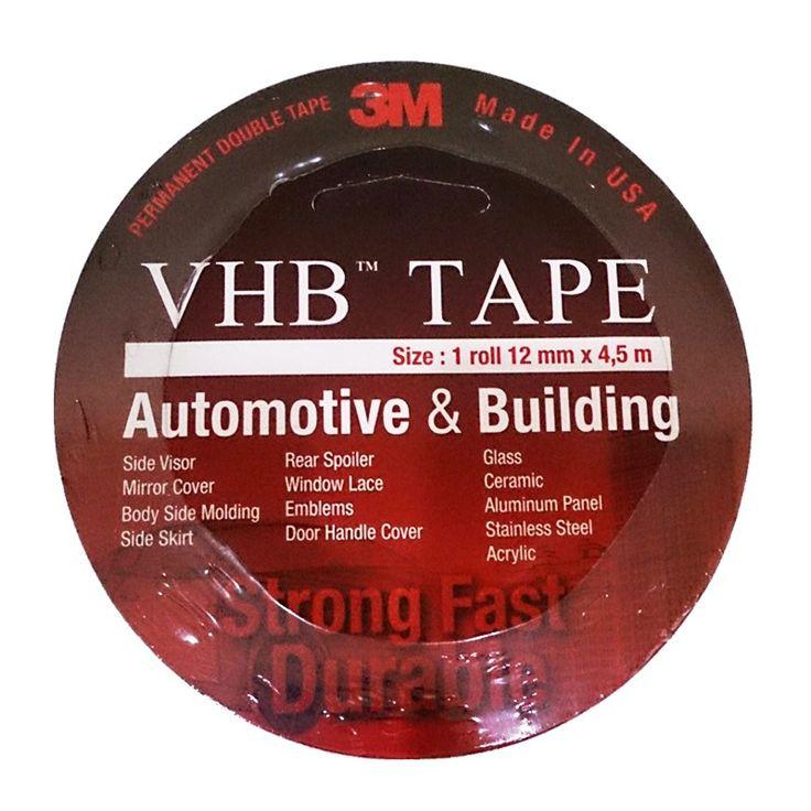 3M VHB Double Tape Automotive 4900 tebal (1.1 mm) size (12mm x 4.5m) - Harga Double Tape Mobil Merk 3M. 3M VHB Automotive Tape 4900 (Double Tape Mobil) didesain Khusus untuk Aplikasi Automotive, baik untuk Exterior Trim seperti body side moulding, name plate, emblem dan untuk Interior Bonding. http://tigaem.com/double-tape/1251-3m-vhb-double-tape-automotive-4900-tebal-11-mm-size-12mm-x-45m-harga-double-tape-mobil-merk-3m-asli-paling-murah-kuat.html #doubletape #perekat #otomotif #3M