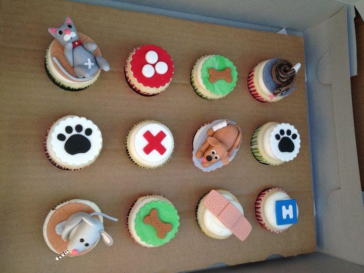 Veterinary Cupcakes - by Tonya @ CakesDecor.com - cake decorating website