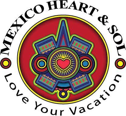 Mexico Heart and Sol logo by patricia #logodesign #heartlogo
