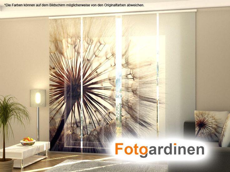 Fotogardinen Pusterblume, Schiebevorhang Schiebegardinen 3D Fotodruck, auf Maß  | eBay