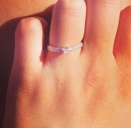 Promise ring. Love. Simple says a thousand words.