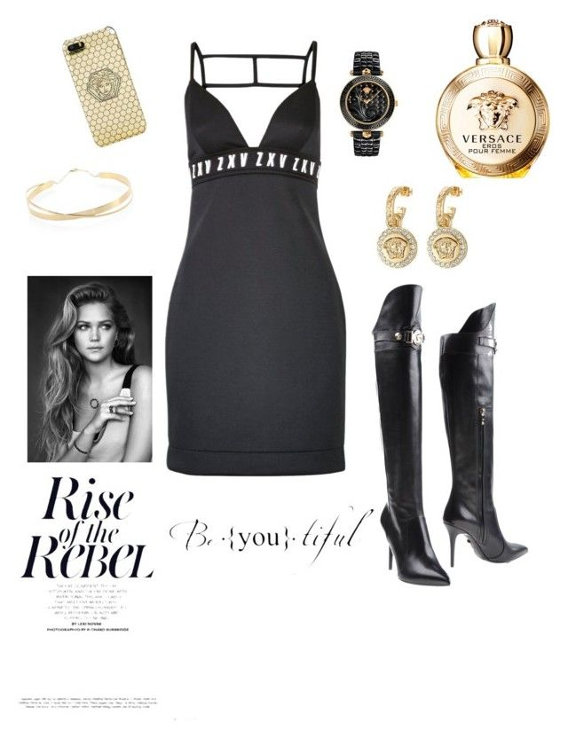 """Night Charm"" by julianabos ❤ liked on Polyvore featuring Versus, Versace and Lana Jewelry"
