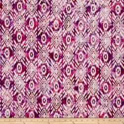 Indian Batik Large Ikat Pink/Purple