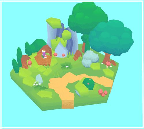 minionslayer:  Low Poly Set 1 ~ Forest <2000 poly scene  Whats in the bottle!!!!!!! ?????