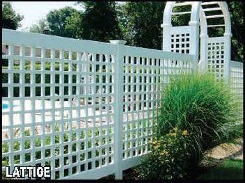 Vinyl Lattice Fencing | Connecticut Fence Company | CT Fence