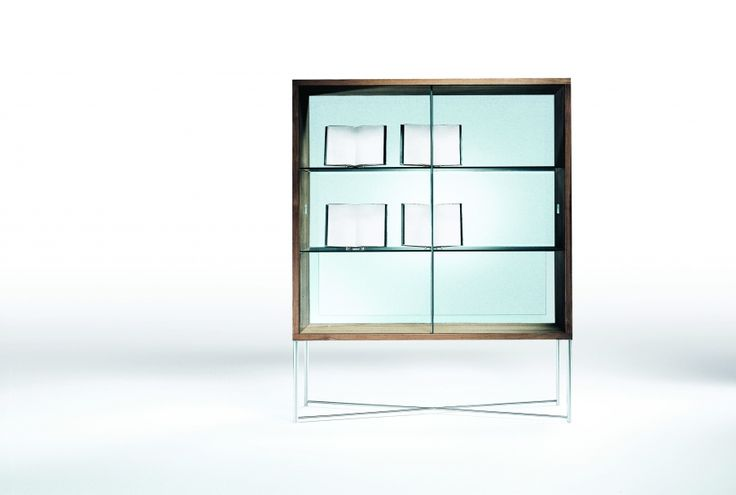 FLEXFORM MOKA glass #cupboard. Designed by ASNAGO & VENDER in 1999.