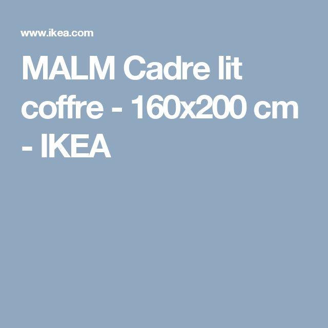 MALM Cadre lit coffre - 160x200 cm  - IKEA