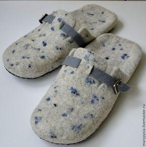 Обувь ручной работы. Ярмарка Мастеров - ручная работа тапочки-шлепки для мужчин
