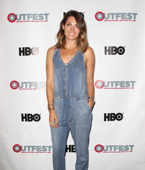 Kate French wore a denim jumpsuit to the Outfest screening of Girltrash: All Night Long