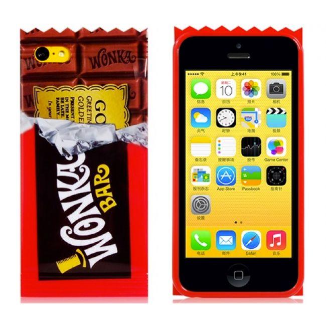 Capa para iPhone 5C - Willy Wonka Golden Ticket Chocolate