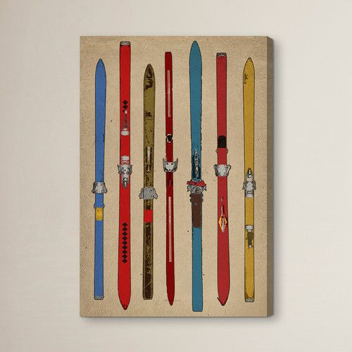 Found it at Joss & Main - Vintage Skis II Painting Print on Wrapped Canvas