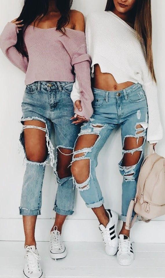 52f5854025 Abiti Tumblr, Abbigliamento In Jeans, Abiti Casual, Abiti Carini, Abiti Di  Moda