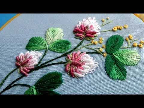 Brazilian Embroidery Pattern | Rose Embroidery: Embroidery Design by Hand - YouTube