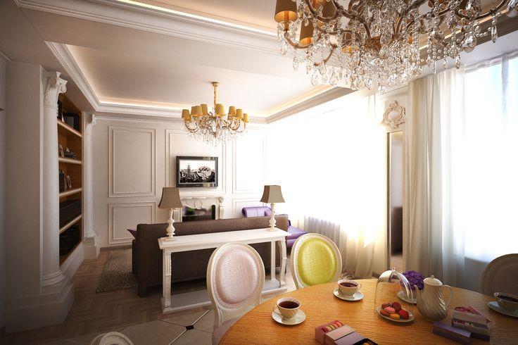 Фото из статьи: Большая кухня, фальшкамин, будуар: французская квартира в Москве