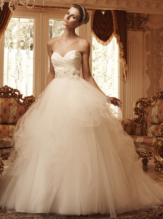 Casablanca 2103 142300 Labellerevebridalonline White Ball Gown Dress WeddingBridal
