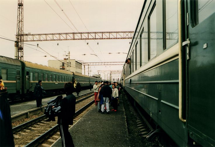 Chinese market on train (Transiberian train)