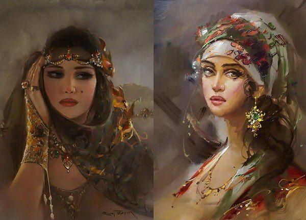 Ремзи Таскиран. Портреты девушек Востока