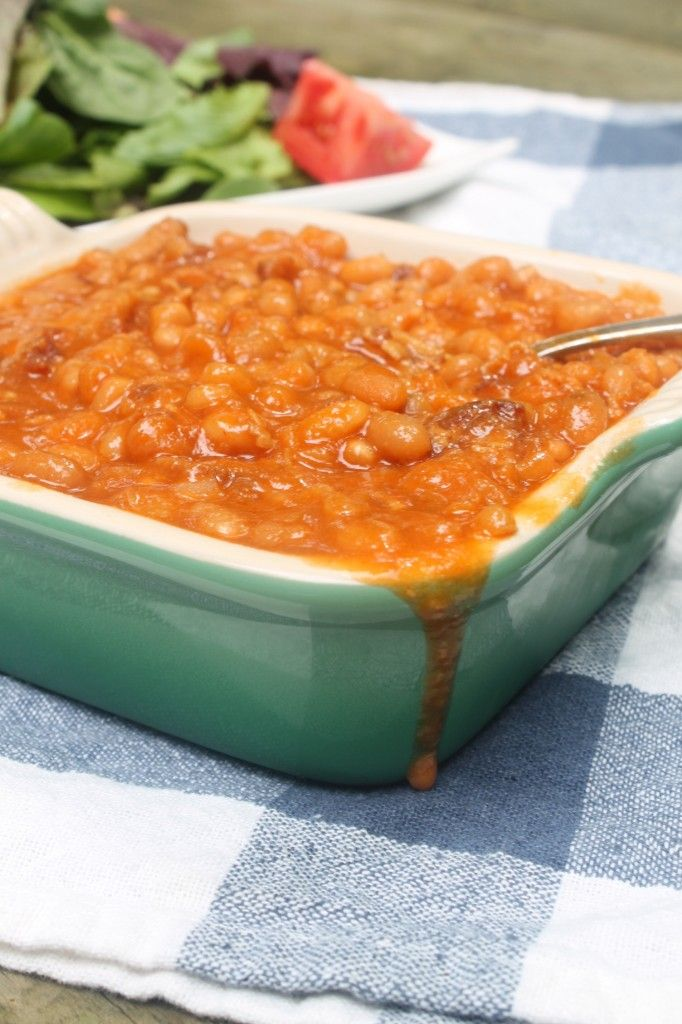 Honey Baked Beans   Gluten Free Fix-      1 lb small white beans, soaked overnight     12 oz bacon, chopped     1 large onion, chopped     1/2 cup honey     4 tablespoons tomato paste     1 tablespoon dry mustard     5-6 cups water     2 tablespoons apple cider vinegar     salt and pepper to taste  Use SCD legal foods