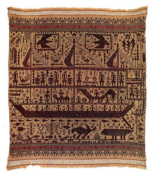 19th century Geography: Indonesia, Sumatra, Lampung province, Hanauberak village, Wai Ratai River region Culture: Pasisir people Medium: Cotton Dimensions: W. 32 x D. 36 1/2 in. (81.3 x 92.7 cm) Classification: Textiles-Woven